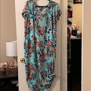 Dresses & Skirts - Tropical print maxi dress